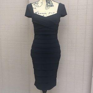 Sz 4 WHBM Black Midi Bandage Dress EUC